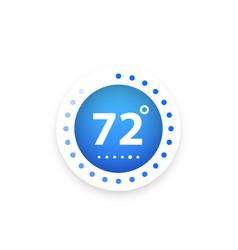 Thermostat temperature control vector