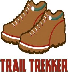 Trail trekker vector