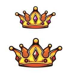 Vintage heraldic crown vector