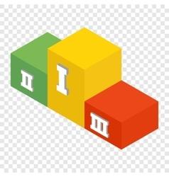 Winners podium isometric 3d icon vector image