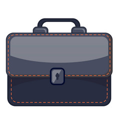 black briefcase icon cartoon style vector image