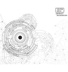 Technology eye line pattern background vector