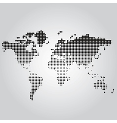 World map with dots of different sizes vector