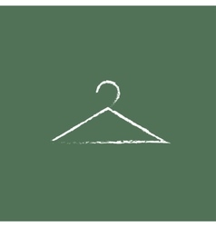 Hanger icon drawn in chalk vector