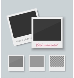 Set of old style photo frames vector