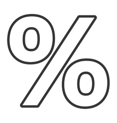 black and white percent icon graphic vector image