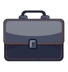 black briefcase icon cartoon style vector image