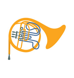 brass horn part of musical instruments set of vector image vector image