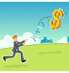 businessman with dollar vector image vector image