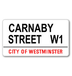 carnaby street vector image vector image