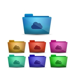 Cloud folder vector