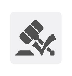 creditworthiness icon with gavel element vector image