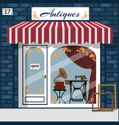 curiosiry shop antiques shop vector image vector image