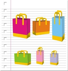 Empty Shopping Bag on paper vector image