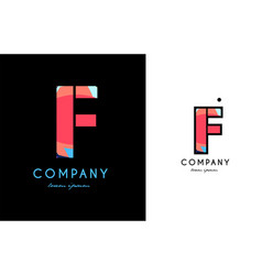f blue red letter alphabet logo icon design vector image vector image