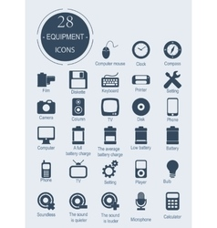 Icons with electronic devices vector image vector image