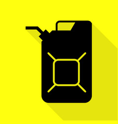 Jerrycan oil sign jerry can oil sign black icon vector