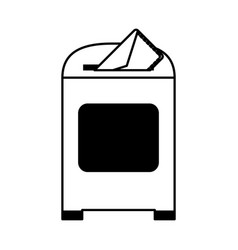 Mailbox with letter icon image vector