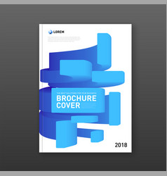 Modern abstarct geomtric colorful brochure cover vector