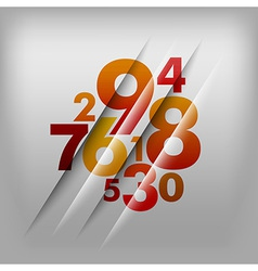 Numbers red vector