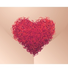 Pubes heart vector image vector image