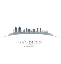 San Diego California city skyline silhouette vector image