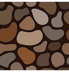 Seamless gray and brown stone pattern vector image