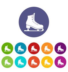 Skates set icons vector