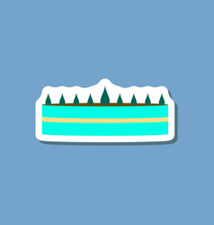sweet dessert in paper sticker cream cake vector image vector image