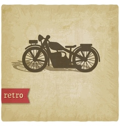 Vintage background with motorcycle vector image