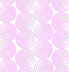 White colored paper pink spirals with thickening vector