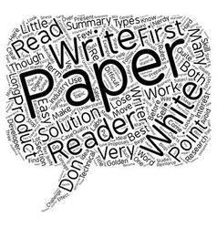 Why Your White Papers Don t Work text background vector image vector image