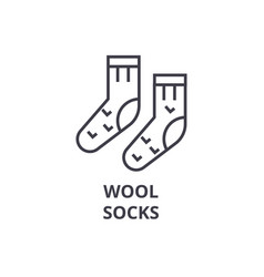 wool socks line icon outline sign linear symbol vector image