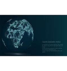 World Map Point Africa vector image