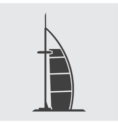 Burj Al Arab Jumeirah icon vector image