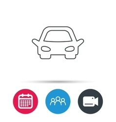 Car icon auto transport sign vector