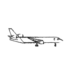 Airplane icon image vector