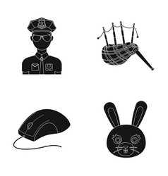 Animal police and or web icon in black style vector
