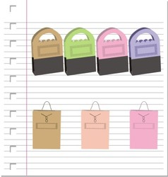 Shopping bags on paper vector image