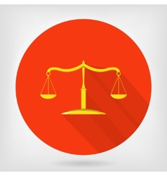 Scales of justice flat icon vector