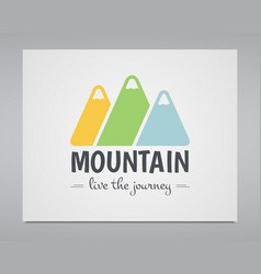 Summer mountain badge and outdoor logo emblem vector