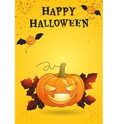 Happy halloween poster bright color vector