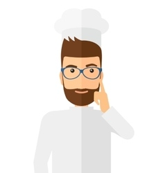 Chef pointing forefinger up vector