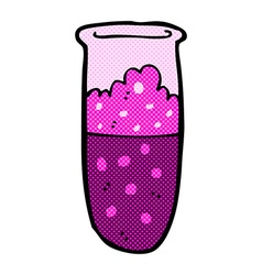 Comic cartoon test tube vector