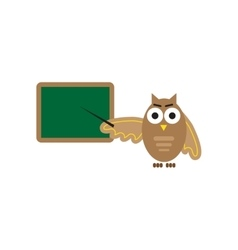 flat icon on white background owl teacher vector image