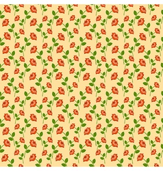 Pattern roses over green backdrop vector
