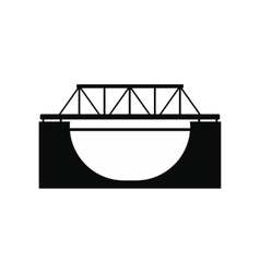 Rail bridge icon vector