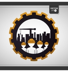 Construction and industry design vector