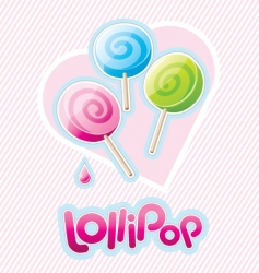 Three lollipops vector