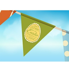 Eater bunting over blue sky vector image